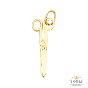 Top Gold & Diamond Jewelry Scissors Pendant 14K Yellow Gold
