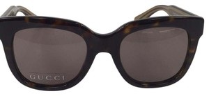 Gucci New Gucci GG 3748/S YU8CO Brown with Gucci Logo on Arm Plastic Style Sunglasses 140mm