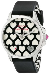 Juicy Couture Juicy Couture jetsetter Black Silicone & Silver Steel Watch 1901220