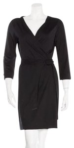 Diane von Furstenberg short dress Black Wrap Dvf on Tradesy