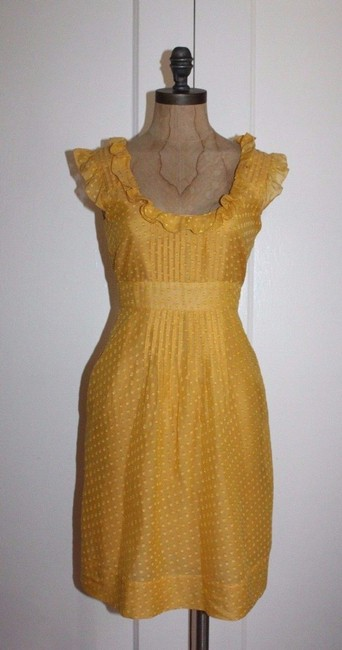 Item - Yellow Behind The Clouds Short Cocktail Dress Size 0 (XS)