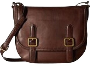 Frye Leather Buckle Equestrian Cross Body Bag
