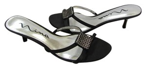 Nina Size 8.00 M Leather Soles Very Good Condition Black Sandals