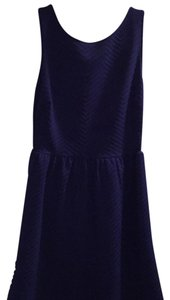 Aqua short dress dark blue on Tradesy