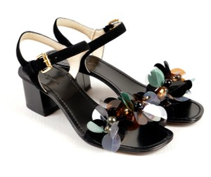 L'Autre Chose Black Sandals