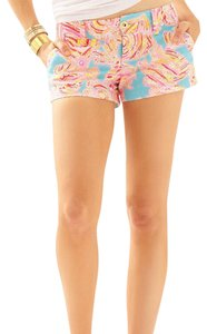 Lilly Pulitzer Mini/Short Shorts Blue, Pink, Orange, Yellow, Red, White