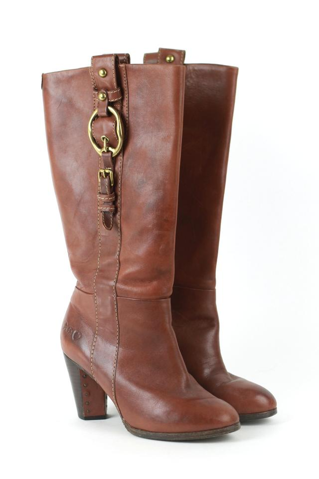 Lucky Brand Brown Marie Boots/Booties Leather Heeled Boots/Booties Marie 13e3e3