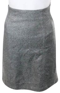 French Connection Straight Pencil Gray Office Skirt grey taupe