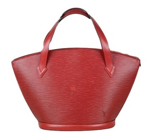 Louis Vuitton Epi Saint-jacques Auth Tote in Red