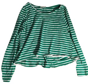 lilis doat Soft Striped T Shirt green and white