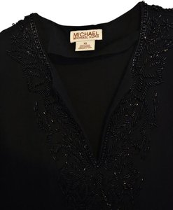 Michael Kors Beaded Tunic Top Black