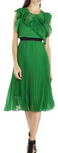 BCBGMAXAZRIA Pleated Pleated Skirt Ruffle Frill Dress
