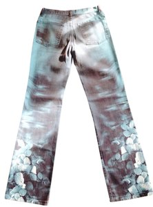 Roberto Cavalli Handpainted Boot Cut Jeans-Medium Wash