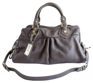 Marc by Marc Jacobs Mbmj Leather Satchel in Aluminium