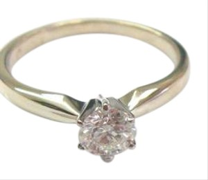 Zales ZALES 18KT Round Cut Diamond Solitaire Engagement Ring GSL Certificate