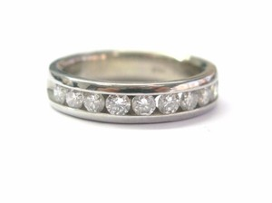 Other Fine Round Cut Diamond Channel Setting Ring WG 14KT 1.00Ct Sz 7