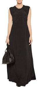 Black Maxi Dress by IRO Maxi Crepe Quilted Flowy