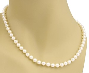 Mikimoto #20314 Mikimoto 6mm Akoya Pearls Strand Necklace w/Sterling Clasp