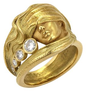 Carrera y Carrera #20214 Carrera y Carrera Diamond 18k Yellow Gold Woman Band Ring