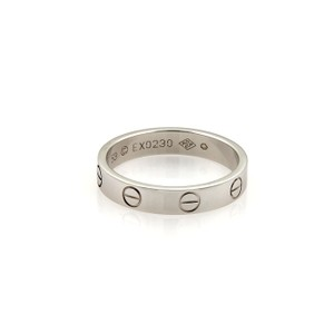 Cartier Cartier Mini Love 18k White Gold 3.5mm Band Ring