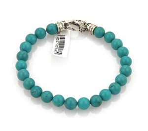Stephen Webster Turquoise 8mm Bead Sterling Silver Bracelet