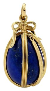 Tiffany & Co. Tiffany & Co. Schlumberger Studios 18k Yellow Gold Lapis Egg Pendant