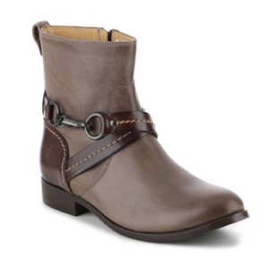 Frye Women's Leather Short Western Grey/brown Boots