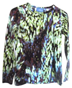 Simply Vera Vera Wang Artistic Cotton Top Green Blue Black