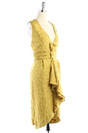 BHLDN Yellow Silk Tethered Vintage Bridesmaid/Mob Dress Size 8 (M) Image 1