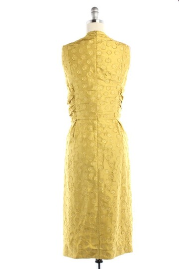 BHLDN Yellow Silk Tethered Vintage Bridesmaid/Mob Dress Size 8 (M) Image 2