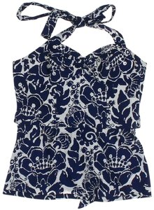 Trina Turk Sleeveless Floral Print Fully Lined Halter Halter Top