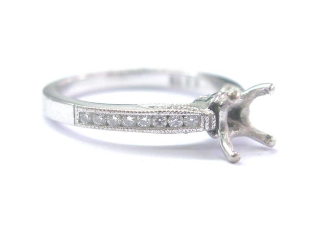 Item - White Gold 18kt Diamond Semi Mount .25ct ( Square .50ct-.8 Ring