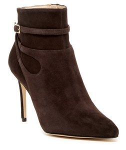 Nine West Suede - Pointed Toe Leather Stiletto Jeans Dark Brown Boots