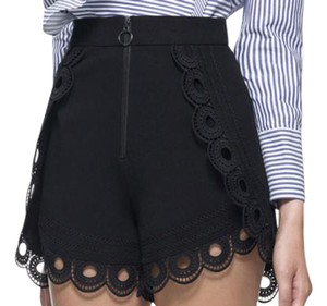self-portrait Date Night Night Out Luxury Designer Mini/Short Shorts black