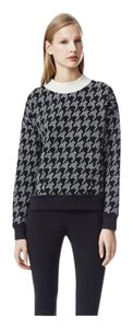 Theory Houndstooth Print Shirt Sweater