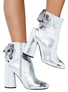 Jeffrey Campbell Women's Leather Limited Edition Silver Boots