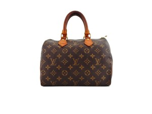 Louis Vuitton Speedy Monogram Boston Tote in Brown