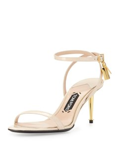 Tom Ford Nude Ankle-Lock Sandals