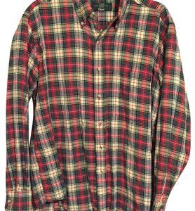 ORVIS Button Down Shirt red green white