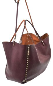 Valentino Tote in burgundy and light brown