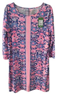 Lilly Pulitzer short dress Bright pink and lavender Marlowe on Tradesy