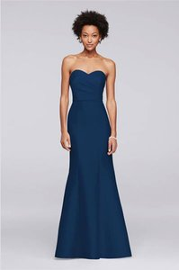 David's Bridal Marine Blue Strapless Sweetheart Marine Blue Bridesmaid Dress 20081865 Dress