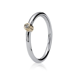 PANDORA Morning Star Diamond 14K 925 Stackable Ring