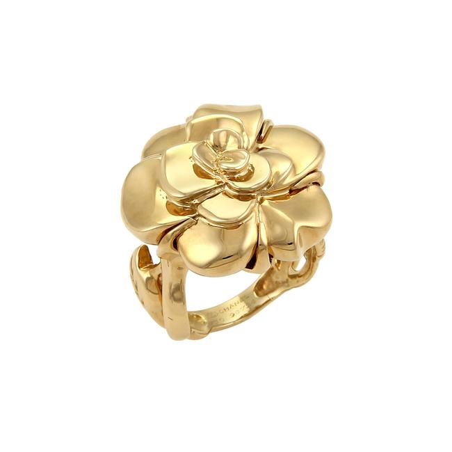 Item - Yellow Gold 19087 Camellia & Leaves 18k Ring