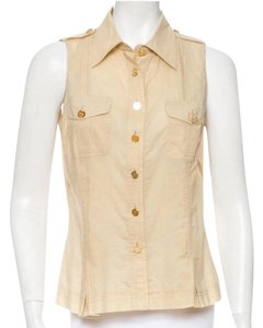 Tory Burch Button Down Shirt Taupe