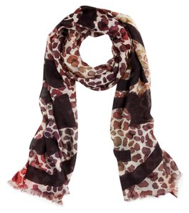 Tory Burch Tory Burch Watercolor Leopard Print Scarf Color Pink