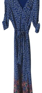 blue paisley Maxi Dress by Express