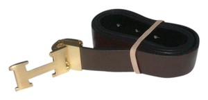 Hermès dark Brown Gold Emblem NB25-5 Belt
