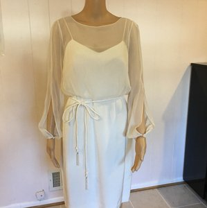 white Maxi Dress by Kay Unger