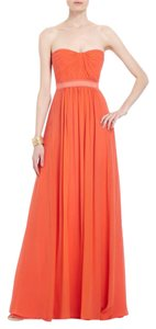 BCBGMAXAZRIA Prom Amber Pleated Silk Strapless Dress